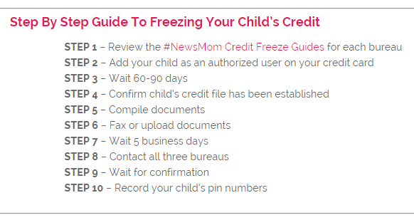 Child Credit Freeze Guide