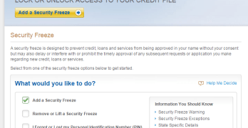 Experian Child Credit Freeze
