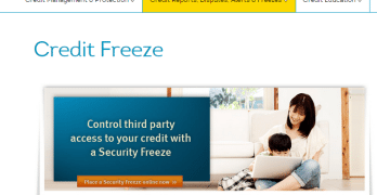 TransUnion Child Credit Freeze