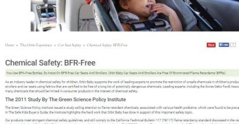 Orbit Responds to Chemical Flame Retardants Found in their Car Seats