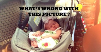 The CPSC, American Academy of Pediatrics & many others urge parents NOT to use car seats as stroller seats or let babies sleep in a car seat.