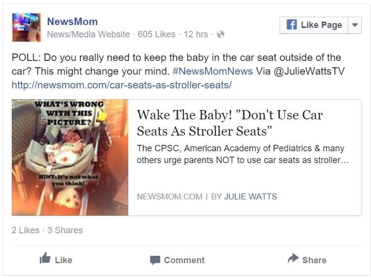 Chime in on facebook... Would this change the way you use your car seat?