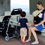 Baby travel products, Ergo and double stroller