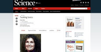 EDITORIAL: Tackling Toxics | Science Magazine